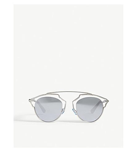 DIOR So Real clear oval-frame sunglasses (Clear