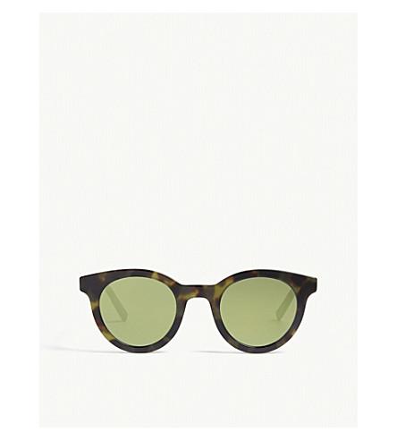 DIOR Blacktie218s round-frame sunglasses (Tortoise+green