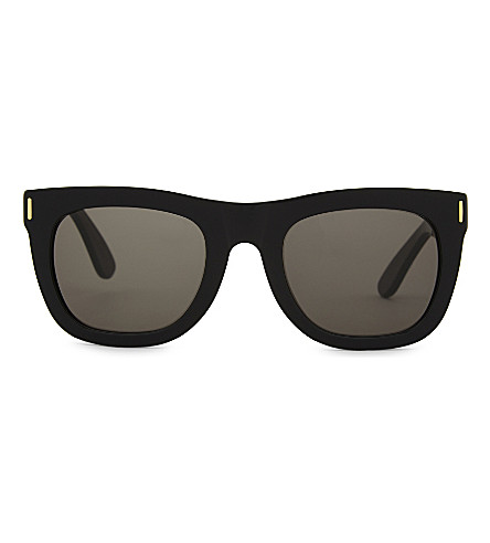 RETRO SUPER FUTURE Francis square-frame sunglasses (Black