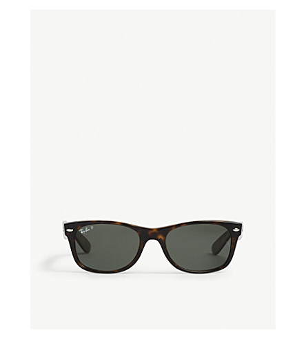 RAY-BAN RB2132 New Wayfarer polarised sunglasses (Havana