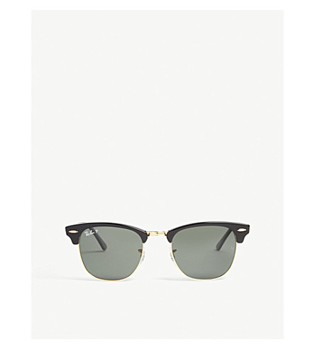 RAY-BAN RB3016 Clubmaster square-frame sunglasses (Black