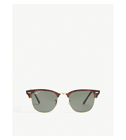 RAY-BAN Clubmaster square-frame sunglasses (Havana