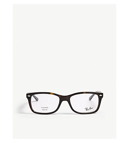 RAY-BAN Havana square-frame optical glasses (Brown