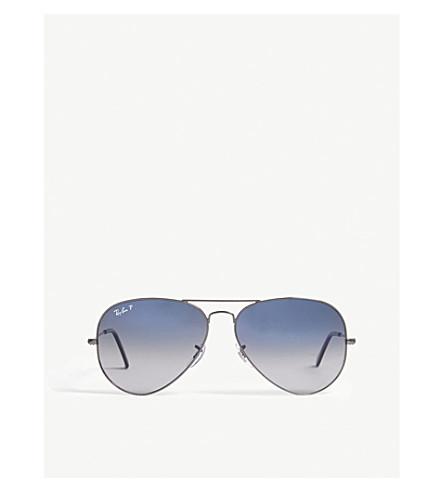 RAY-BAN Rb3025 aviator-frame sunglasses (Grey