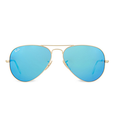 RAY-BAN Pearlescent lens pilot sunglasses RB3025 (Matte+gold