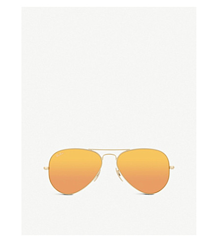 RAY-BAN Aviator sunglasses RB3025 (Matte+gold