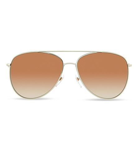 BURBERRY Burberry gold pilot sunglasses BE3072 (Burberry+gold