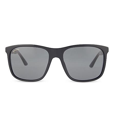 BVLGARI Rectangle sunglasses (Black