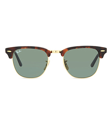 RAY-BAN Havana foldable square sunglasses RB2176 (Red+havana