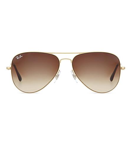 RAY-BAN Gloss pilot sunglasses RB3513 (Demi gloss sand gold