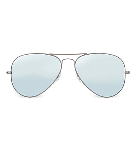 RAY-BAN RB3025 aviator sunglasses (Matte+gunmetal