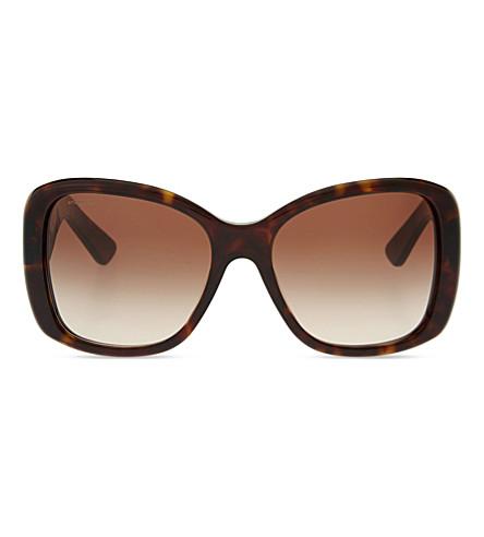PRADA PR32PS Havana square-frame sunglasses (Havana