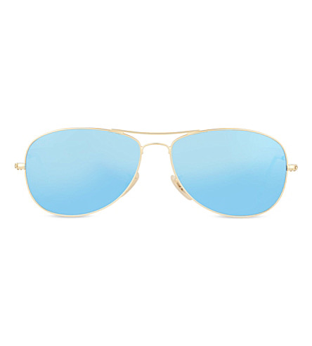 RAY-BAN RB3362 pilot sunglasses (Matte+gold