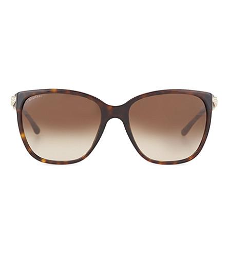 BVLGARI 0BV8136B square sunglasses (Dark+havana