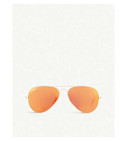 RAY-BAN RB3025 matte pilot sunglasses (Matte+gold
