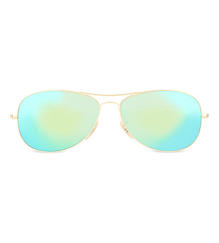 RAY-BAN RB3025 pilot sunglasses (Matte+gold
