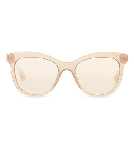 MIU MIU MU10PS square sunglasses (Opal beige