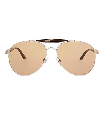 EMPORIO ARMANI AR6022 Frames of Life aviator sunglasses (Matte+bronze