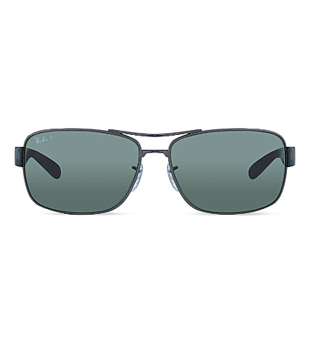 RAY-BAN RB3522 Gunmetal square sunglasses (Gunmetal