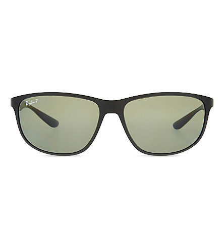 RAY-BAN Rb4213 liteforce rectangle sunglasses (Matte+black