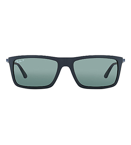 RAY-BAN RB4214 Matte black rectangle sunglasses (Matte+black