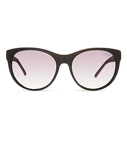 BURBERRY B4182 round sunglasses (Black