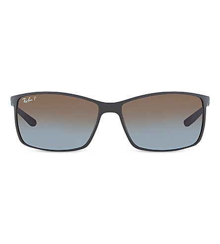RAY-BAN RB4179 Matte brown square sunglasses (Matte+dark+brown
