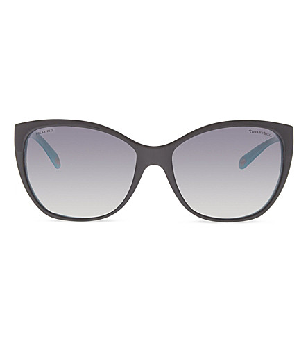 TIFFANY & CO TF4094 bi-colour cat eye sunglasses (Black/blue