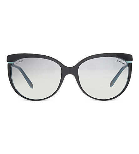 TIFFANY & CO TF4097 cat eye sunglasses (Black/blue