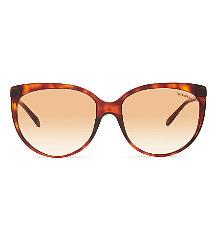 TIFFANY & CO TF4097 Havana cat eye sunglasses (Havana