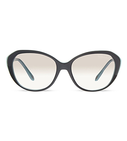 TIFFANY & CO TF4098 irregular sunglasses (Black/blue