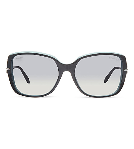 TIFFANY & CO TF4101 square sunglasses (Black/blue