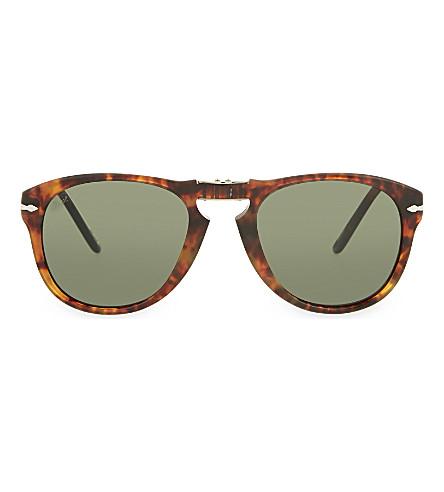 PERSOL Tortoise shell aviator sunglasses (Caffe