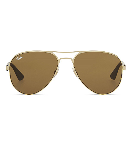 RAY-BAN RB3523 aviator sunglasses (Matte+brown