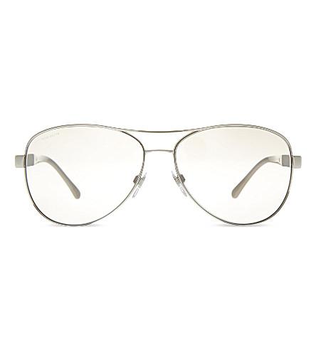 BURBERRY B3080 pilot sunglasses (Silver