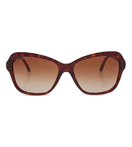 BVLGARI Bv8142 Havana butterfly sunglasses (Blonde+havana
