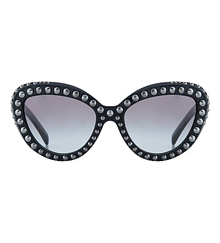 PRADA PR31Q studded cat eye sunglasses (Black