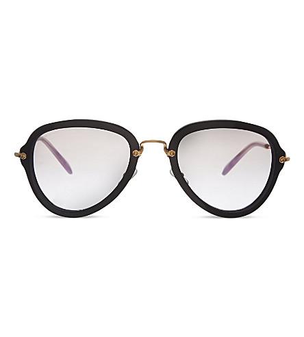 MIU MIU MU03Q pilot sunglasses (Black