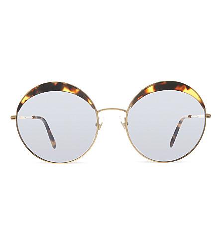 MIU MIU MU51Q round sunglasses (Light havana