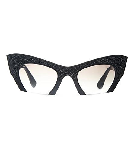 MIU MIU MU01Q cat eye sunglasses (Black