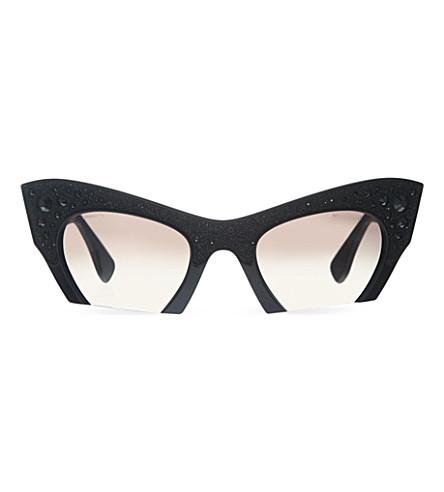 MIU MIU MU02Q cat eye sunglasses (Black