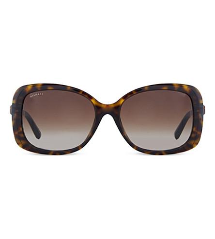 BVLGARI 猫眼太阳镜 (黑暗 + 哈瓦那