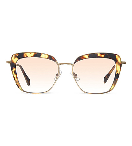 MIU MIU MU52Q square sunglasses (Light havana