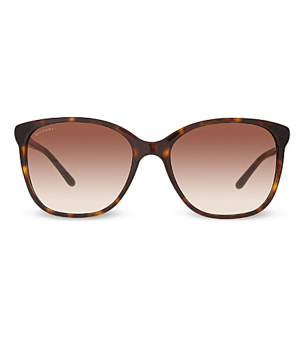 BVLGARI Bv8152 havana square sunglasses (Dark+havana