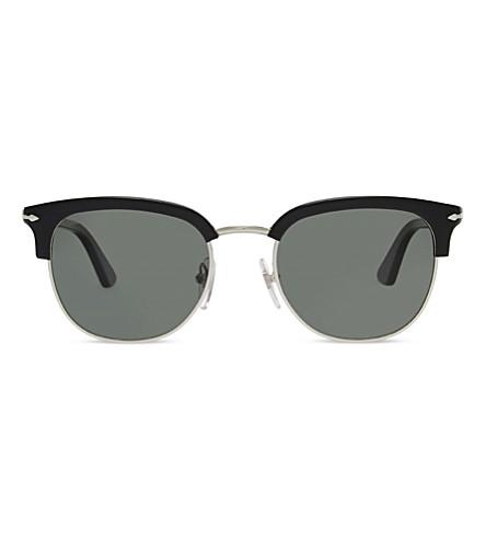 PERSOL PO3105S round-frame sunglasses (Black
