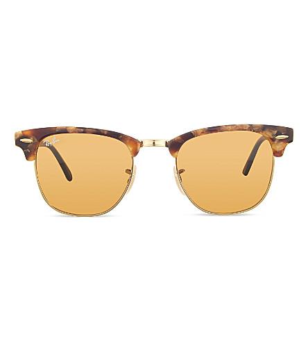RAY-BAN RB3016 Clubmaster Havana sunglasses (Spotted havana