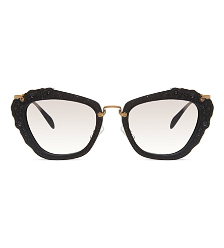 MIU MIU MU04Q cat eye sunglasses (Black