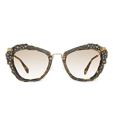 MIU MIU MU04Q cat eye sunglasses (Light havana