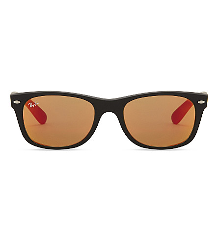RAY-BAN Rb2132 square-frame sunglasses (Rubber+black