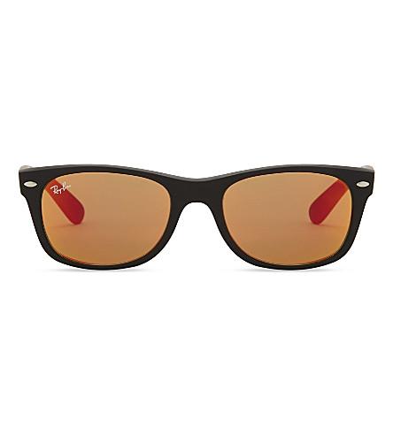 RAY-BAN Rb2132 方框太阳镜 (橡胶 + 黑色